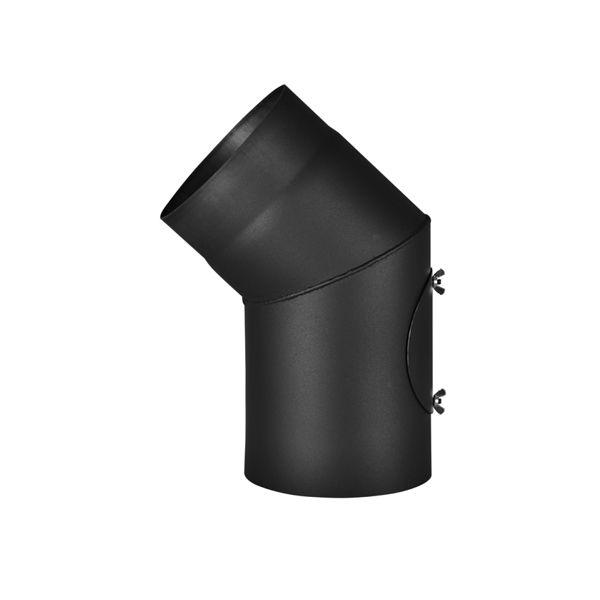 Koleno 45*/145mm/1,5mm s čistícím otvorem (Výprodej)