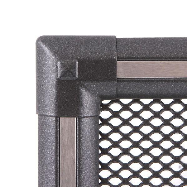 Krbová mřížka 16x16cm EXCLUSIVE grafit / nerez s žaluzií