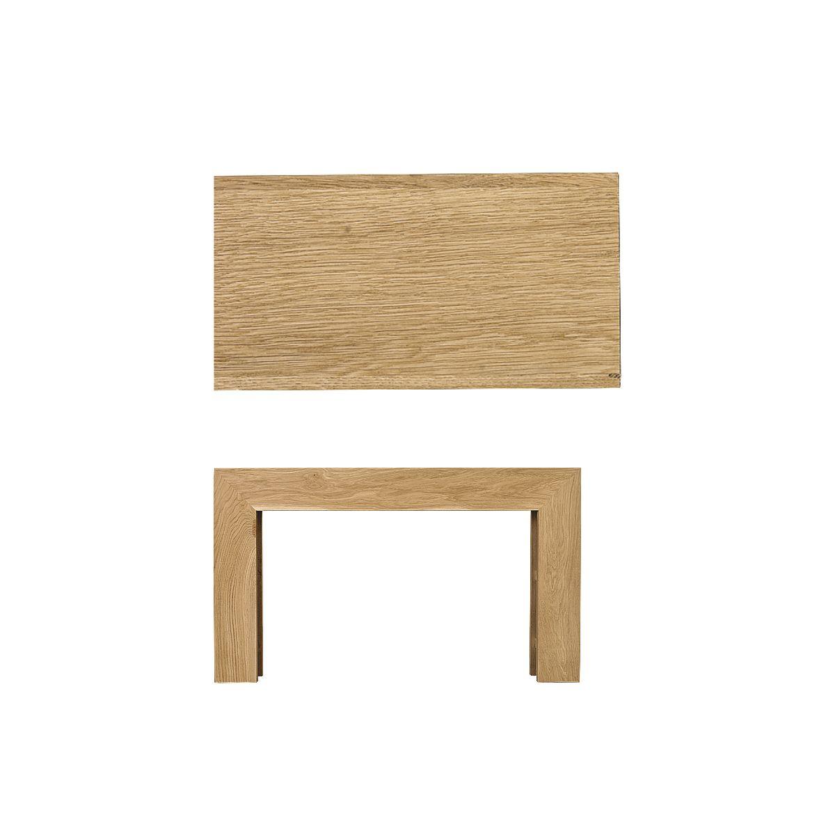 Dřevěná krbová římsa - bez frézování, rovná, dub