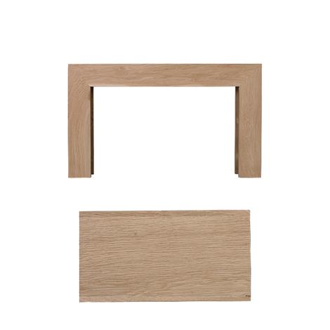 Dřevěná krbová římsa - bez frézování, rovná, olše