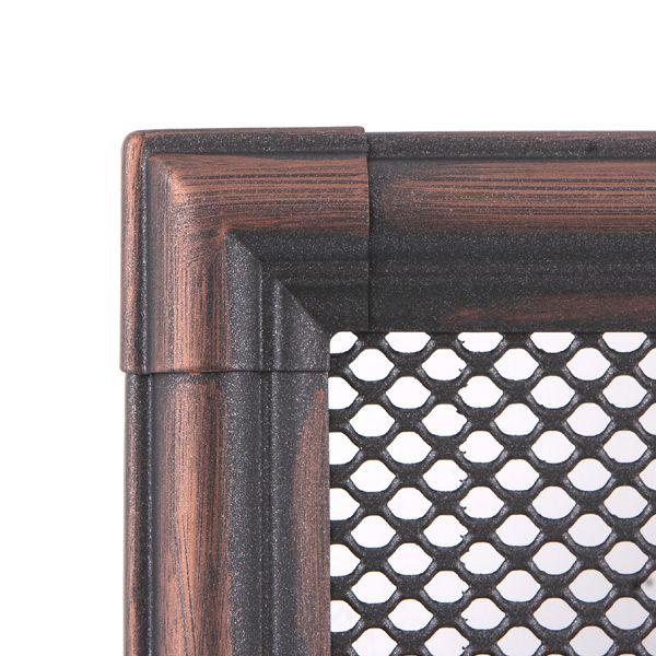 Krbová mřížka 16x16cm RETRO měděná patina