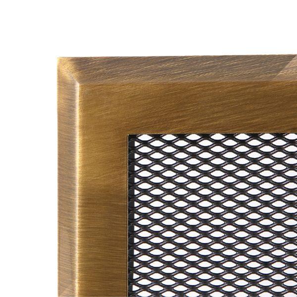 Krbová mřížka 10x20cm mosazná patina