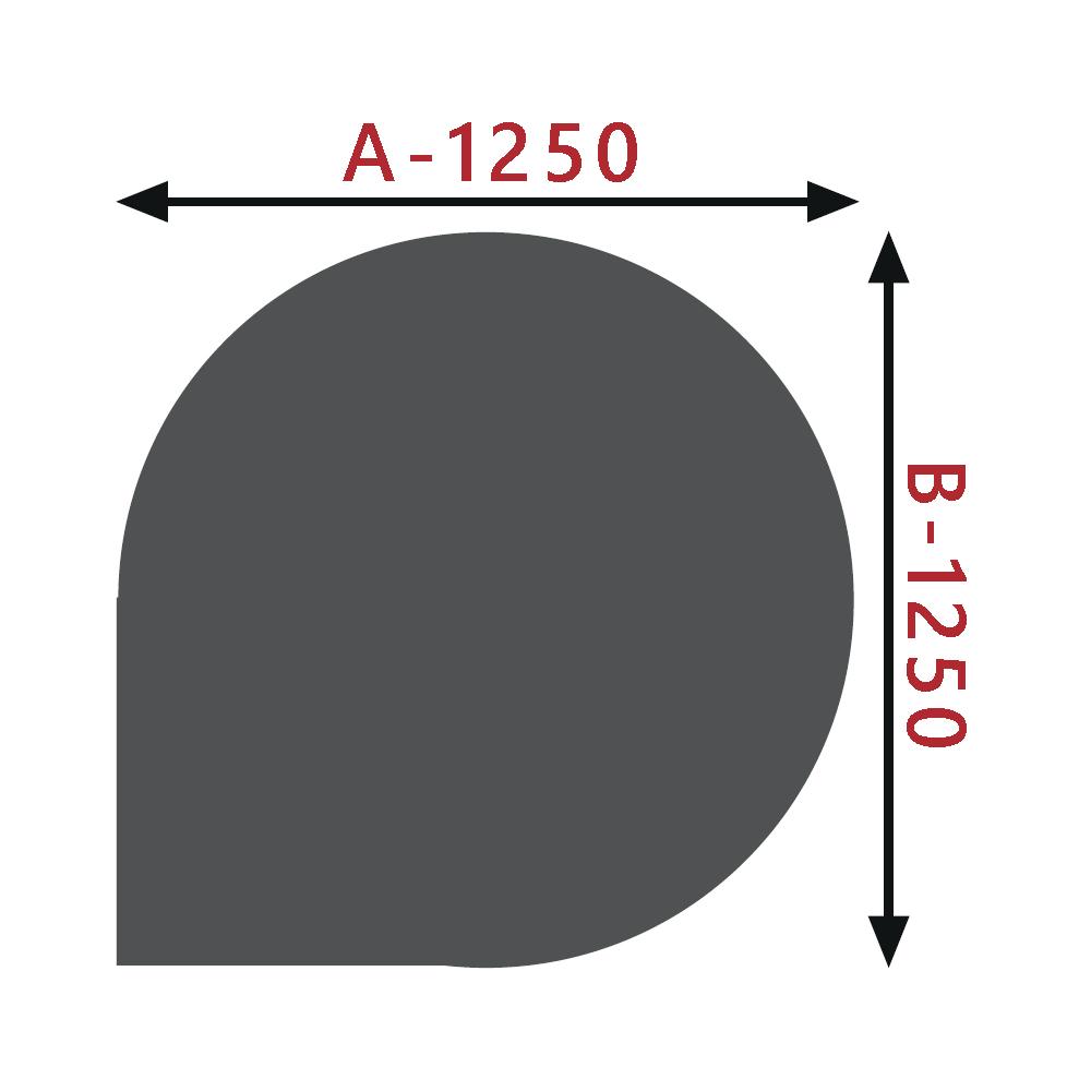 Sklo pod kamna - Kapka 1250x1250 mm / 8 mm