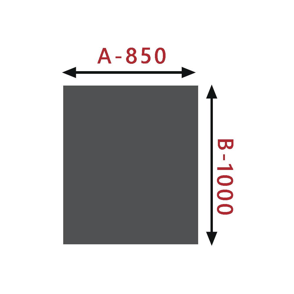 Sklo pod kamna - Obdelník 850x1000 mm / 8 mm