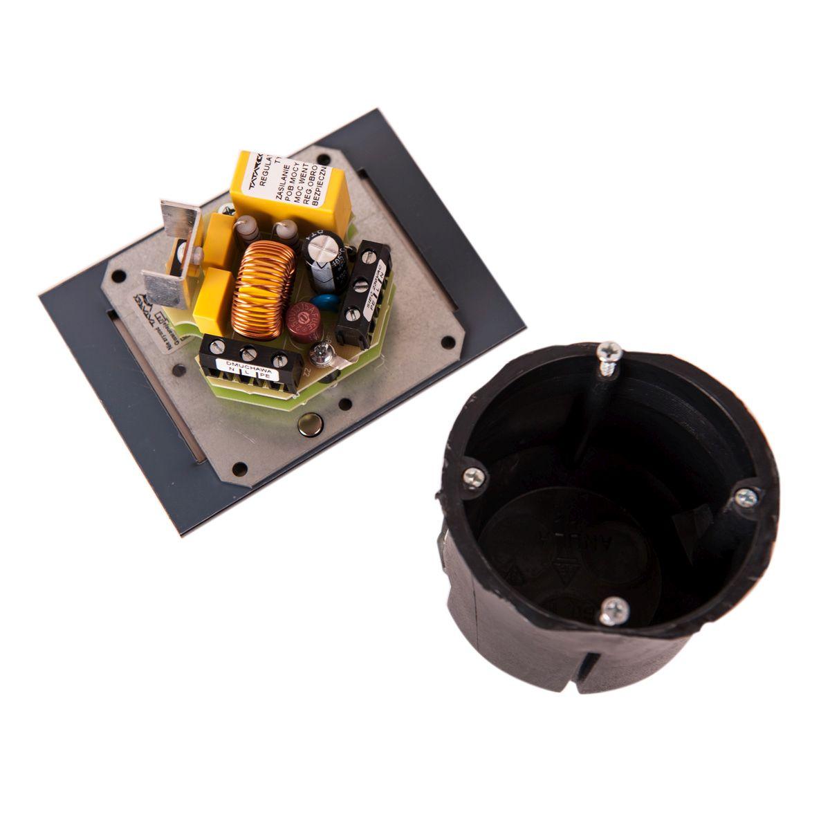 Regulátor otáček ventilátoru RT-10 titanium (do zdi)