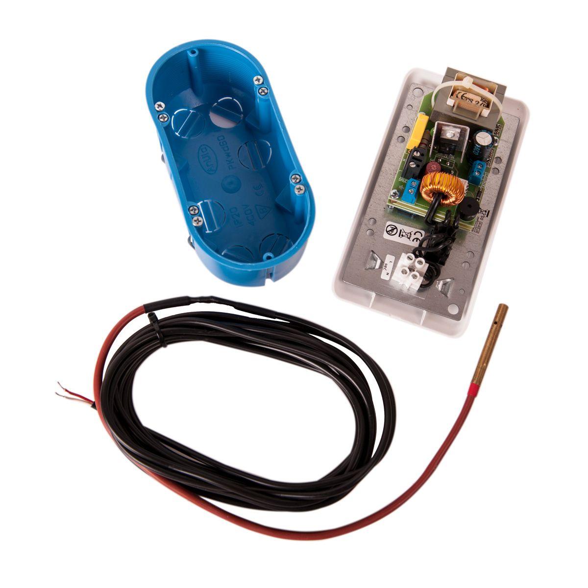 Regulátor otáček ventilátoru RT-03C ARO bílý s teplotním čidlem