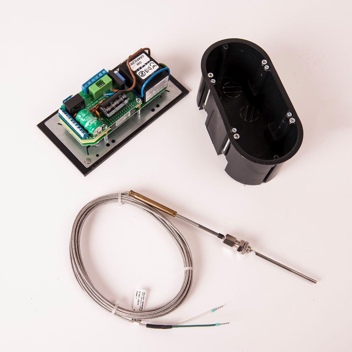 Automatická regulace hoření RT08G-OM2, 100mm, teplovzdušná se senzorem spalin