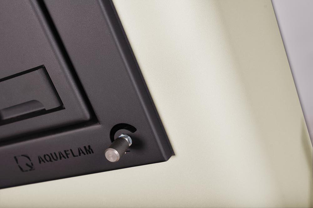 Krbová kamna AQUAFLAM ® 25 s výměníkem - krémová, manuální regulace