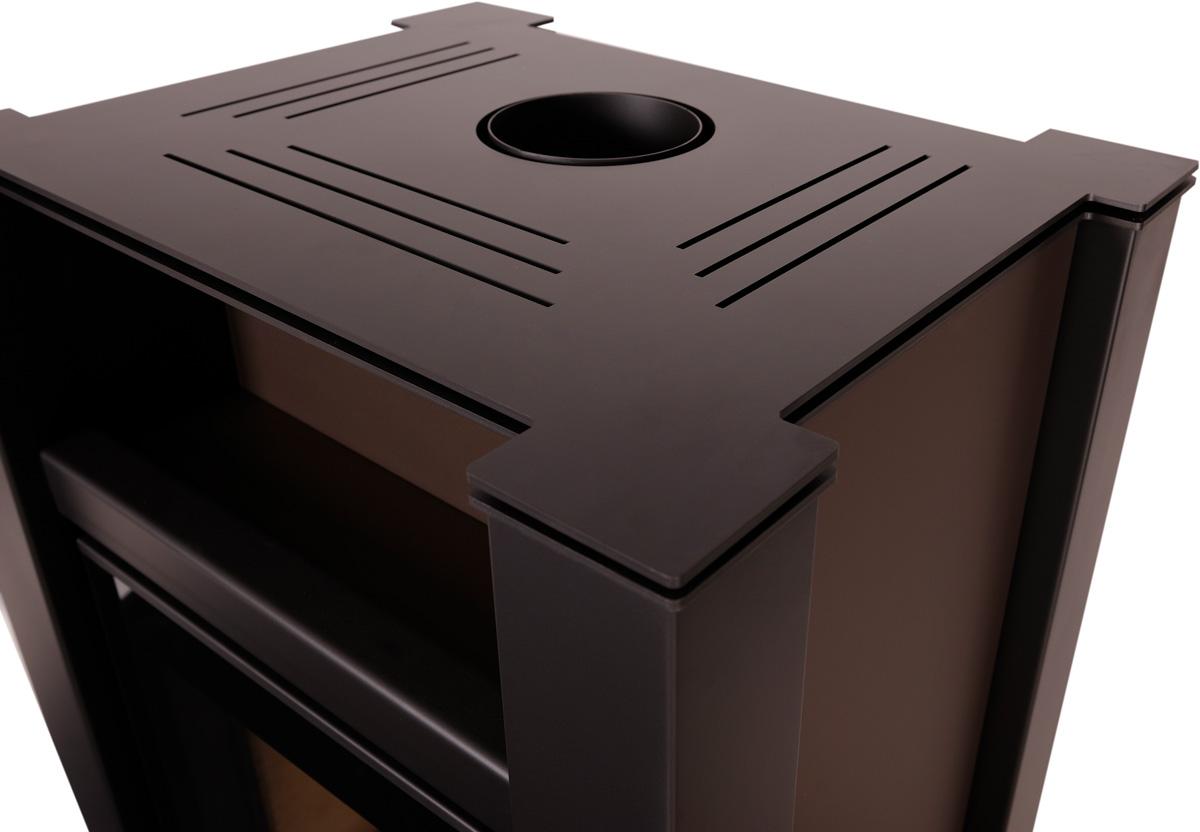 Krbová kamna AQUAFLAM VARIO ® LEND 11kW hnědá - sametová (teplovzdušná verze)