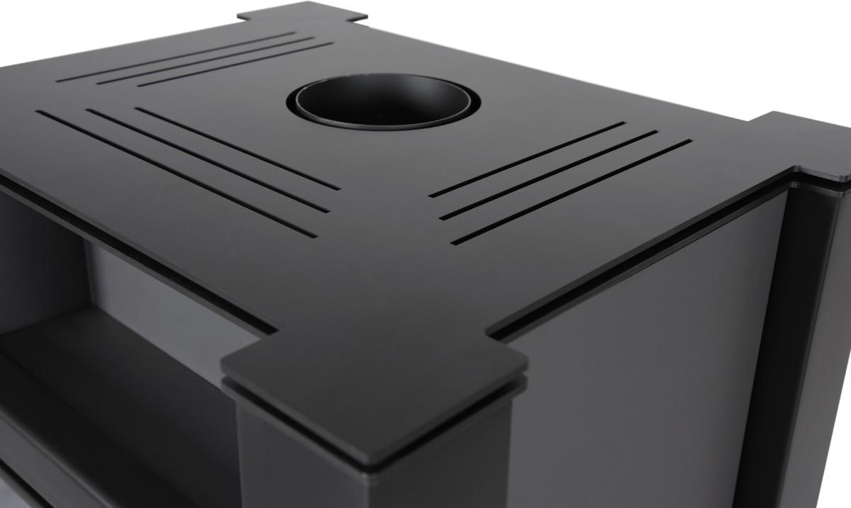 Krbová kamna AQUAFLAM VARIO ® LEND 11kW šedá (teplovzdušná verze)
