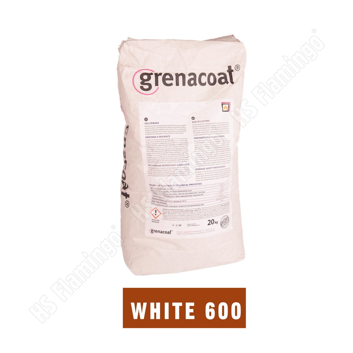 Lepidlo Grenacoat WHITE 600, bílé 20 kg