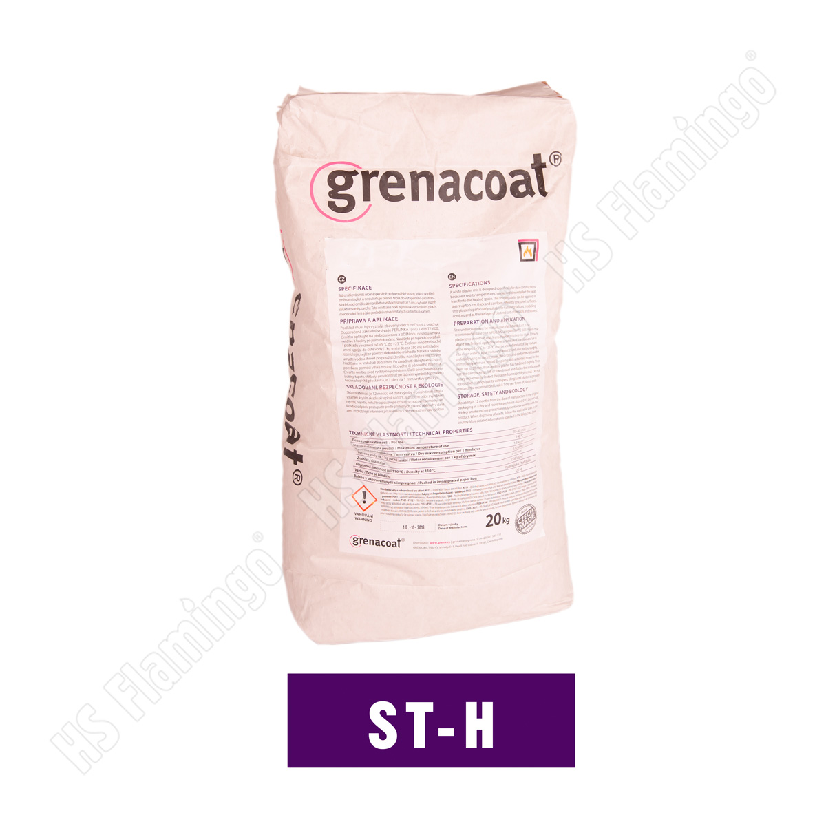Kamnářská omítka hrubá 1,5 mm Grenacoat ST-H, 20 kg